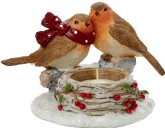 PREMIER MO165440SP  16X10Cm Robin Tea Light Holder